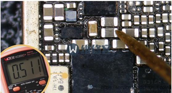 最先检验基带芯片CPU与频射IC的供阻值是不是一切正常,